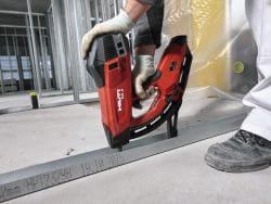 GX 3 Gas-actuated fastening tool for interior finishing applications