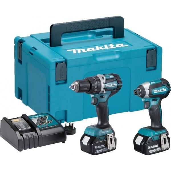 Makita DLX2180TJ 18v Brushless Drill & Impact Driver Kit 2 x 5.0Ah Batteries