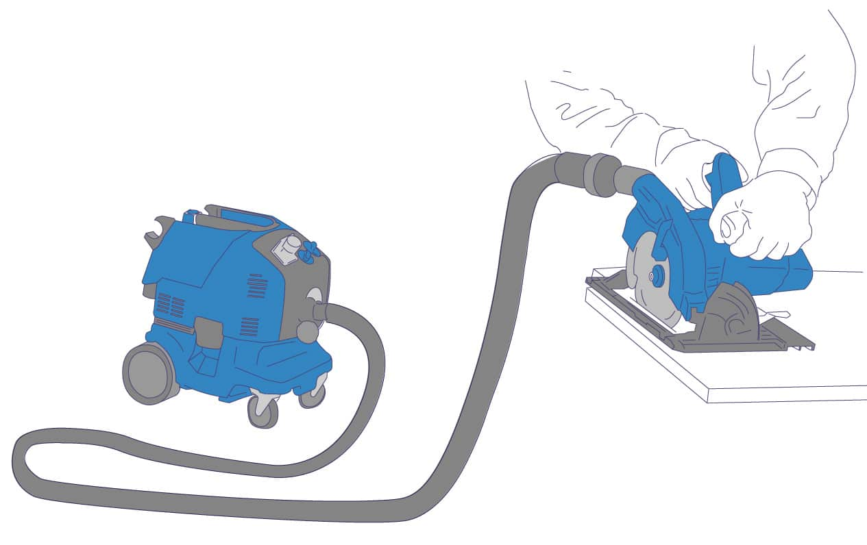 On-Tool Dust Extraction Vacuum ('M' Class)