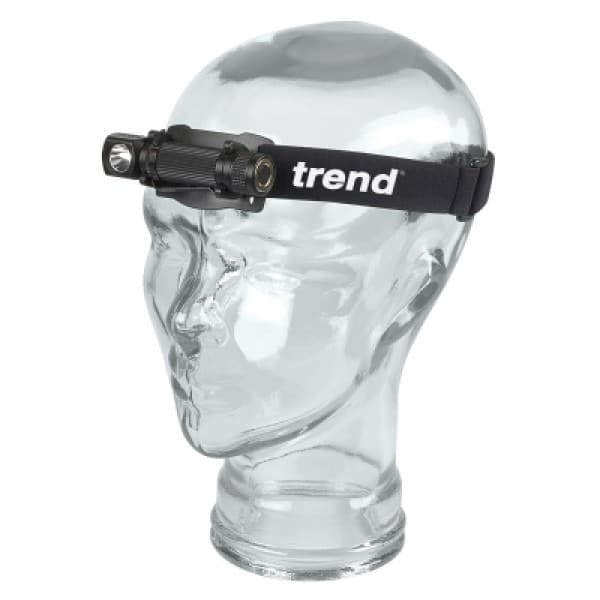 LED 115 lumens white light head torch with angle head.