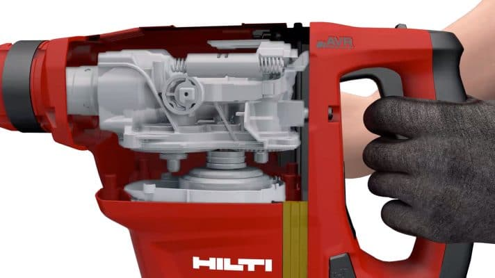 Hilti's Active Vibration Reduction (AVR) technology